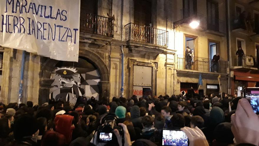 El juicio contra 22 investigados por la ocupación del Palacio del Marqués de Rozalejo de Pamplona se celebra este jueves