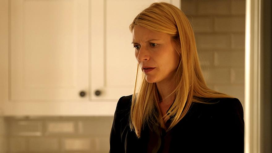 Carrie Mathison (Claire Danes), en el episodio final de Homeland