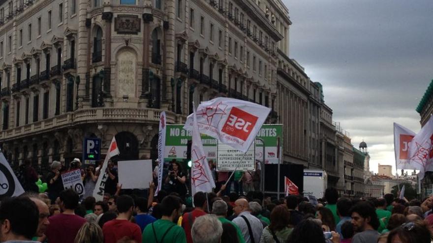La marcha de Madrid se dirige hacia la Puerta del Sol / Irene Castro