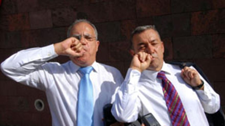 Casimiro Curbelo y Paulino Rivero. (ACFI PRESS)