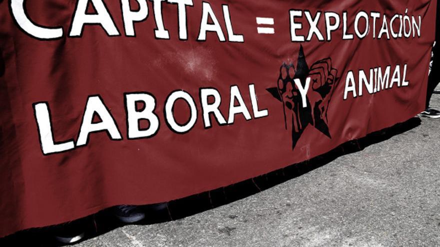 Manifestación antiespecista celebrada en Madrid el 4 de noviembre de 2018