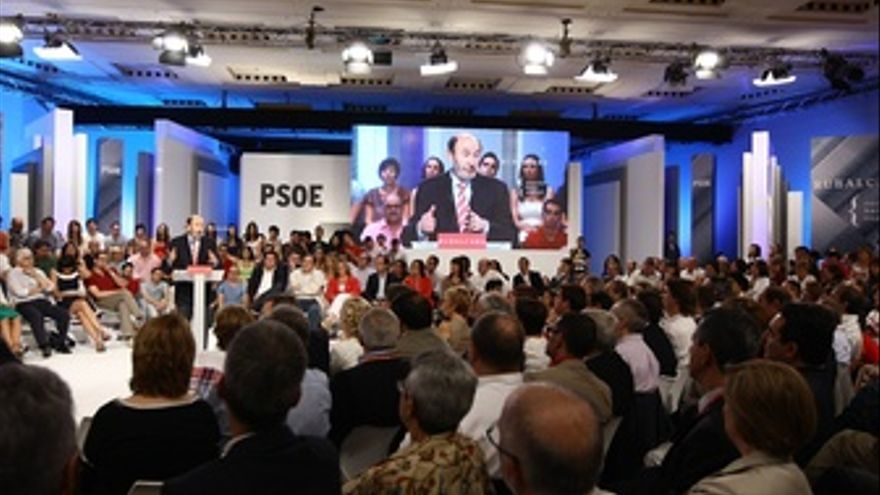 Discurso Del Candidato Del PSOE, Alfredo Pérez Rubalcaba, Ante El Comité Federal