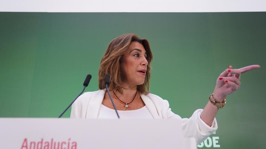 """Susana Díaz celebra el recurso contra el pin parental y rechaza que la """"ultraderecha"""" persiga al quien educa en igualdad"""