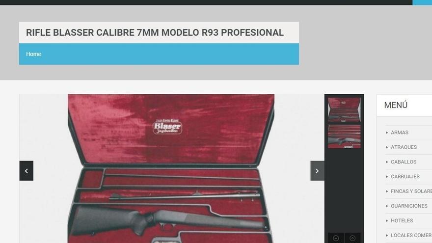 Los fusiles de Roca, los objetos que más interesan en la web que exhibe sus bienes para la venta