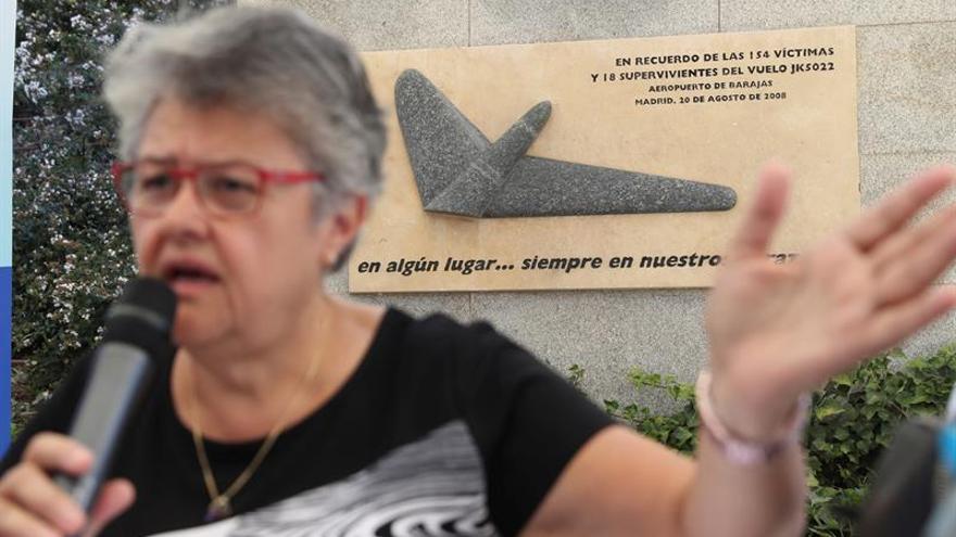 La presidenta de la Asociación de Afectados del Vuelo JK5022, Pilar Vera
