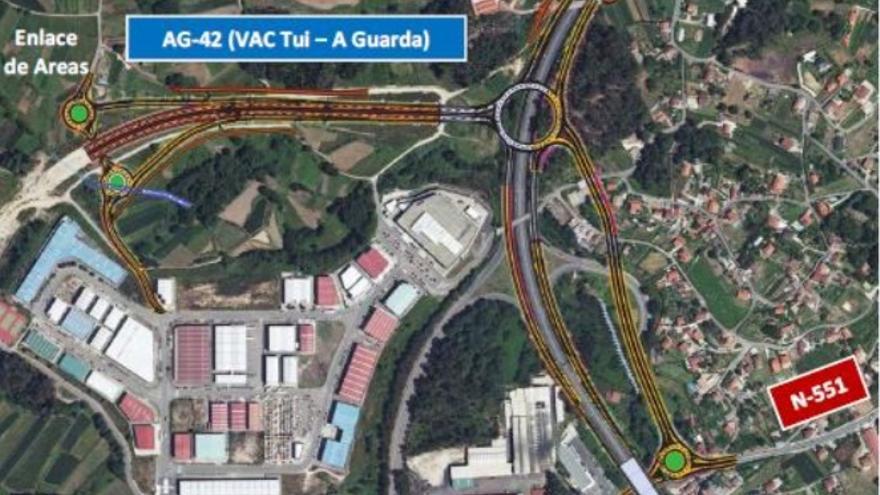 Enlaces autorizados el pasado jueves por la Xunta por 21 millones de euros entre el corredor del Baixo Miño y la A-55