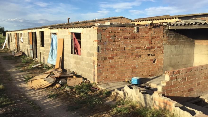 La cabana on s'allotja Ousman
