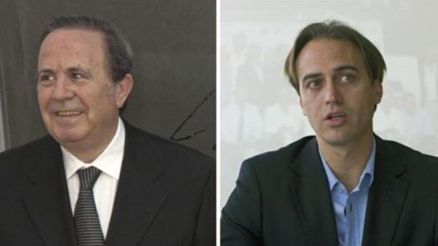 José María Rodríguez, expresidente del PP de Palma, y Álvaro Gijón, diputado autonómico y concejal del PP en el Ayuntamiento de Palma.