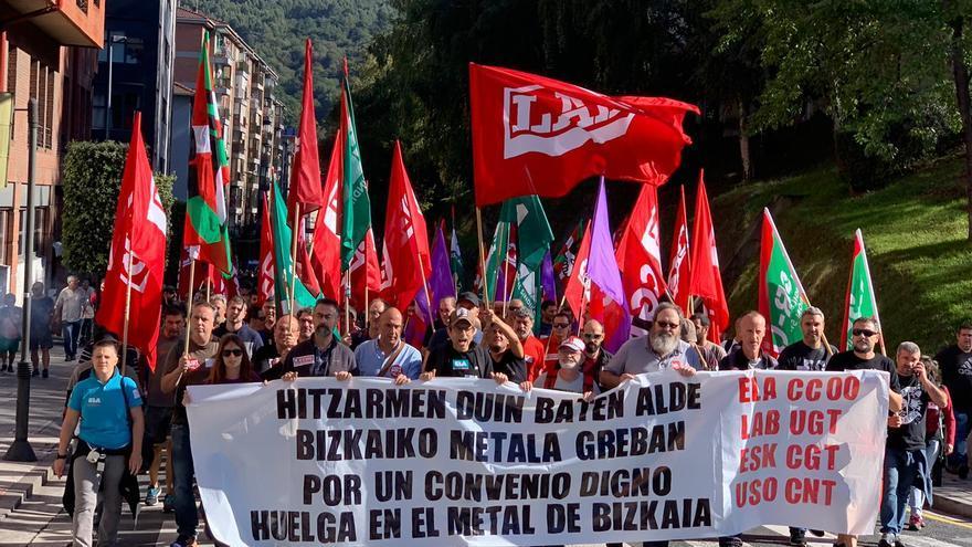 Manifestación sector del metal en Bizkaia