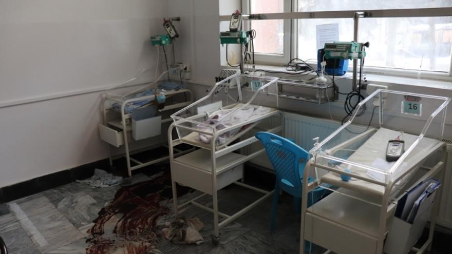 Imagen de la maternidad del hospital de Médicos Sin Fronteras en Kabul tras el ataque del pasado martes 12 de mayo