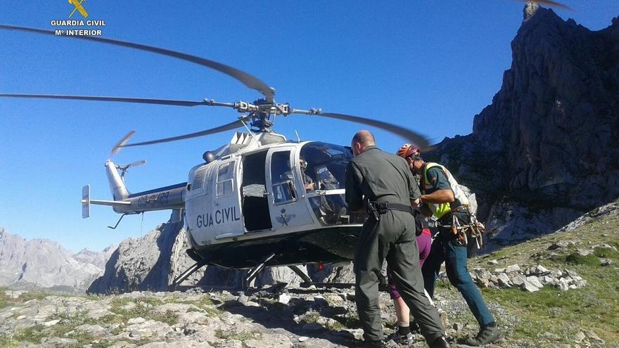 Rescatado en el Pico Curavacas de Palencia un montañero cántabro tras sufrir un accidente