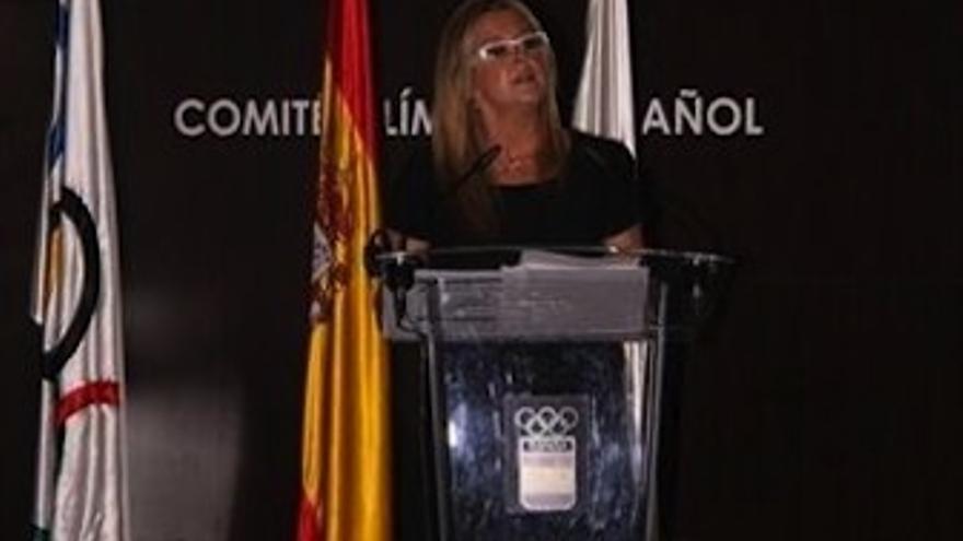 Ana Tarres, durante un acot cuando era seleccionadora nacional. (EP)