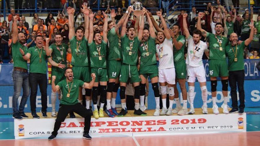 El Unicaja Almería se ha proclamado este sábado campeón de la 44ª edición de la Copa del Rey de Voleibol