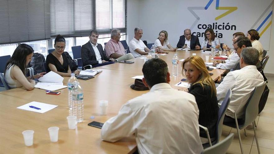 Reunión del Comité Permanente Nacional de Coalición Canaria-Partido Nacionalista Canario