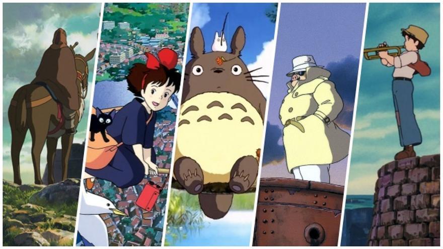 Imágenes de algunas de las cintas del estudio nipón que llegan al catálogo de Netflix