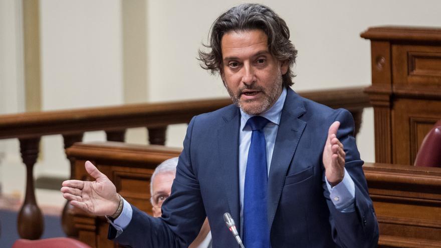 Gustavo Matos, en una intervención realizada en el Parlamento de Canarias