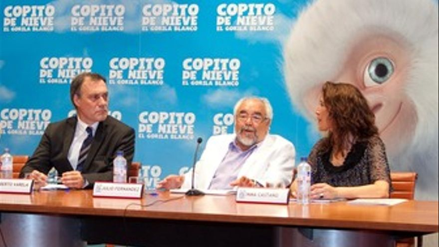 Presentación de 'Copito de nieve', hoy, en Santiago