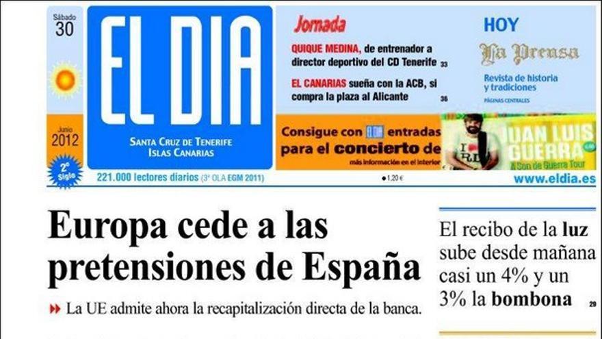 De las portadas del día (30/06/2012) #15