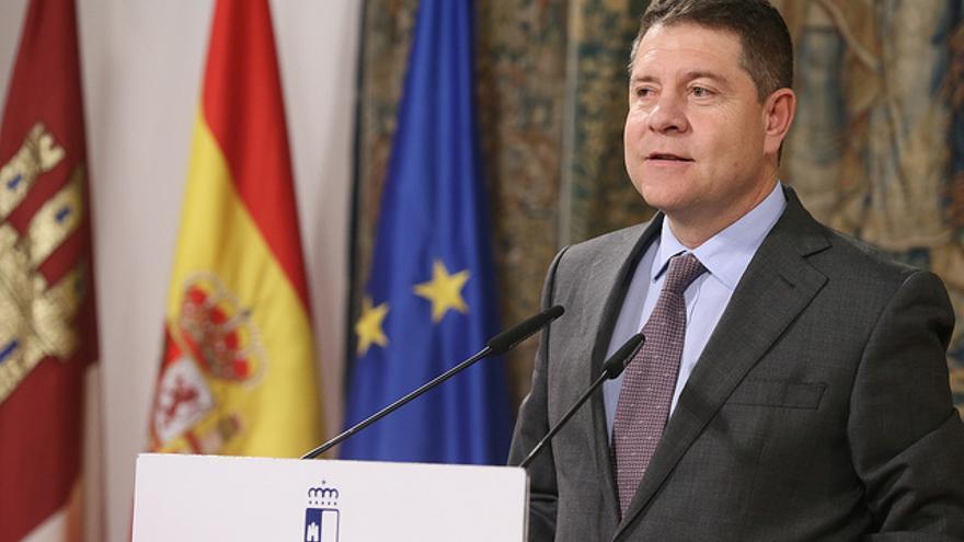 Emiliano García-Page, este martes, en el toledano Palacio de Fuensalida