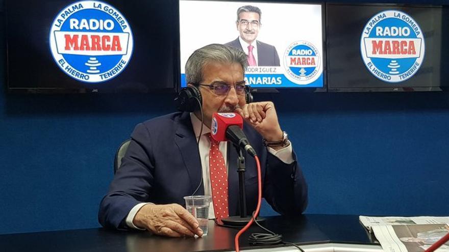 Román Rodríguez, en la entrevista en Radio Marca Tenerife