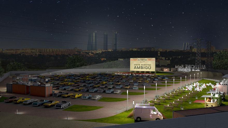 Renderización del proyecto de Autocine Madrid