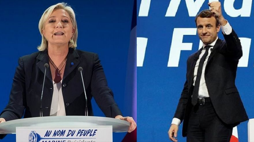 Marine Le Pen y Emmanuel Macron se verán las caras en la segunda vuelta