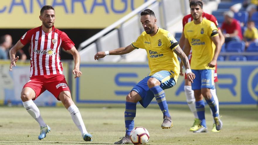 Momo, en el partido frente a la UD Almería