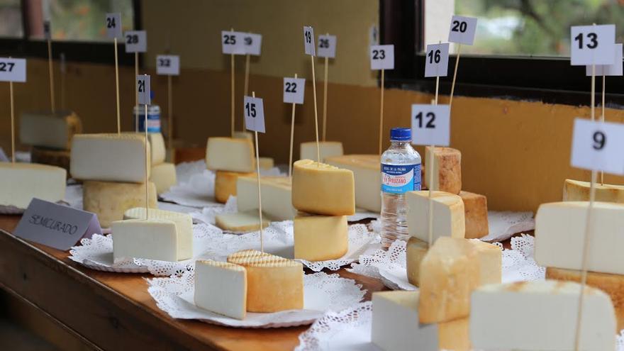 Imagen de archivo de varios quesos de La Palma con Denominación de Origen.