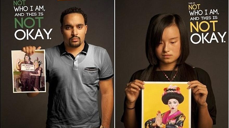 Carteles de la campaña 'We're a culture, not a costume' (Somos una cultura, no un disfraz)