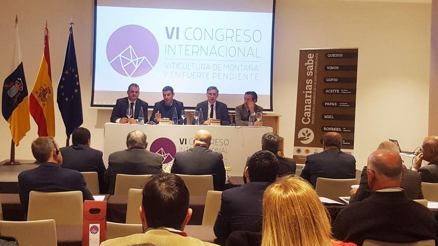 Imagen de la presentación oficial del congreso, esta mañana de jueves en La Laguna