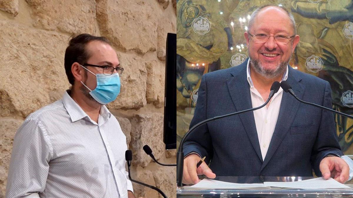 Los exconcejales Juan Alcántara (Podemos) y Manuel Torralbo (PSOE).