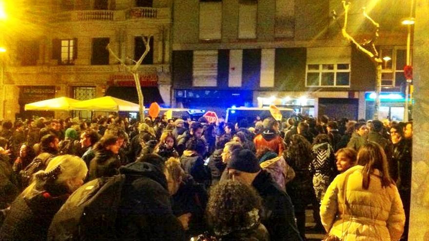 Concentración frente a la sede del PP en Barcelona. Joao França