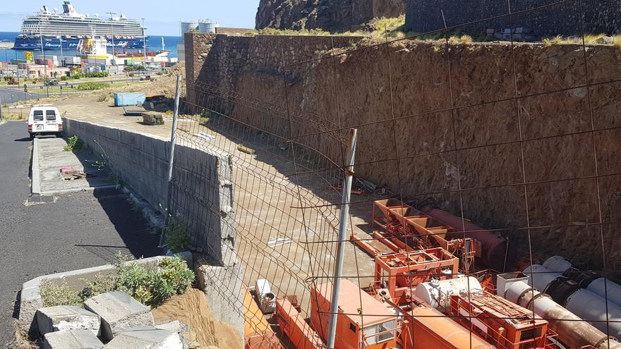 Parcela donde está proyectada la estación de guaguas de Santa Cruz de La Palma.