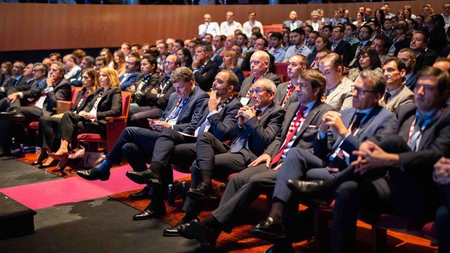 Directiva de Eiffage durante la celebración del 15 aniversario de la compañía en Albacete.