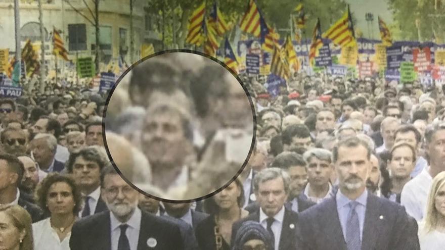 Ampliado, Fernando Clavijo, que se situó siete filas por detrás de las autoridades.