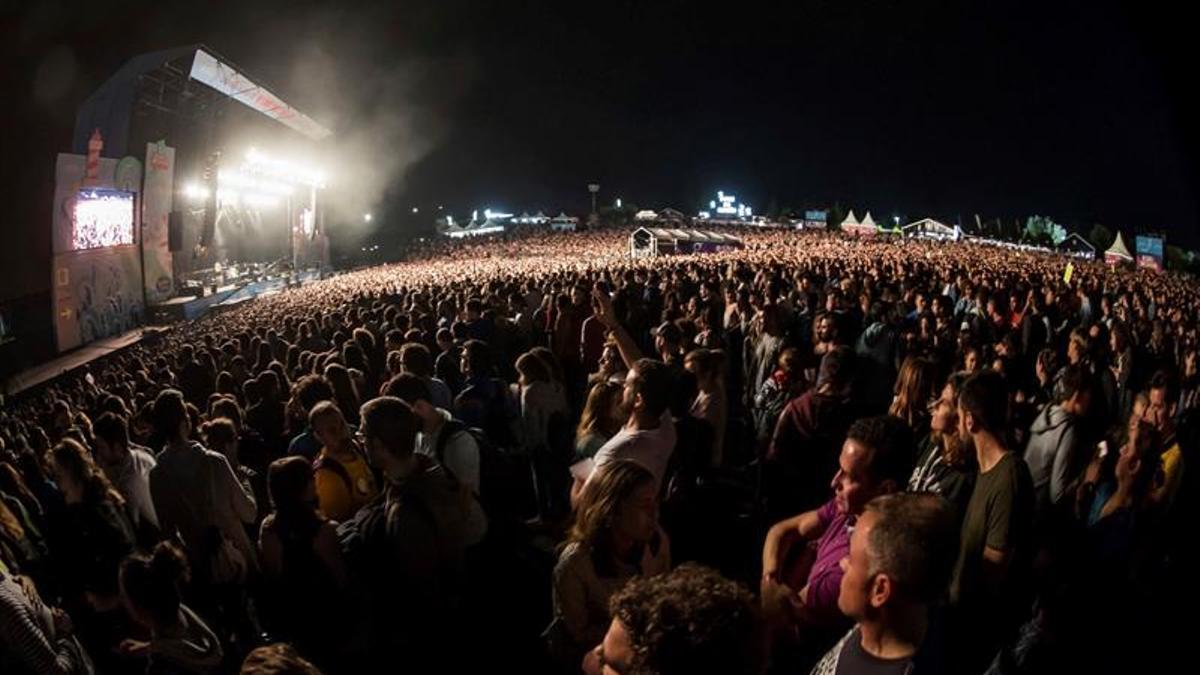 Concierto de Lenny Kravitz en el festival O Son do Camiño de 2018