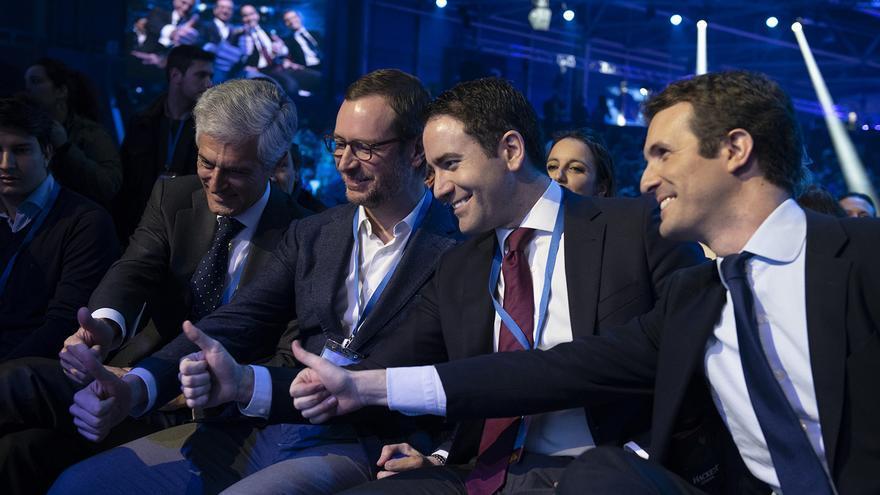 Suárez Illana, Maroto, García Egea y Casado, en la Convención Nacional del PP del fin de semana.