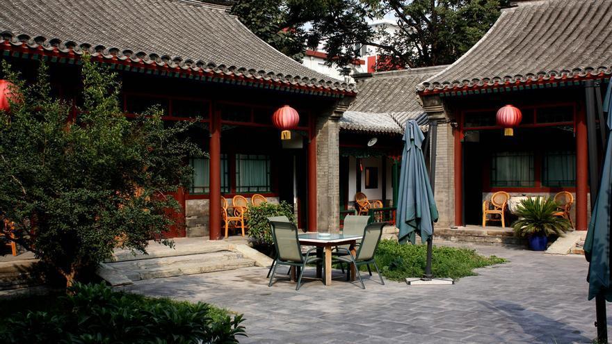 Patio interior de una manzana de Siheyuan. vis-a-v.