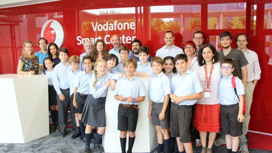 Durante la visita al smartcenter de Vodafone en Sevilla