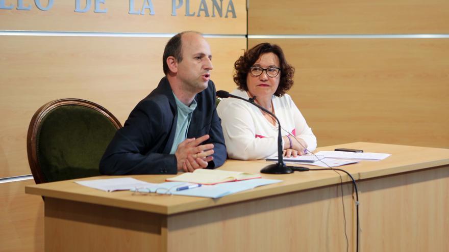 Joan Piquer, director general de Calidad del Aire de la Generalitat Valenciana, y Ali Brancal, vicealcaldesa de Castelló.