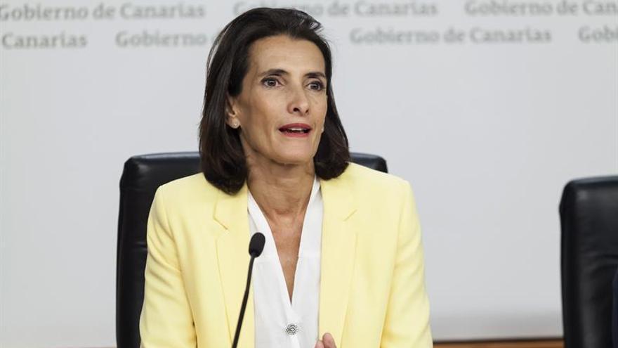 La consejera de Turismo, Cultura y Deportes del Ejecutivo canario, María Teresa Lorenzo.