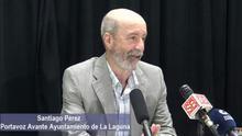 Santiago Pérez, en la rueda de prensa de Avante