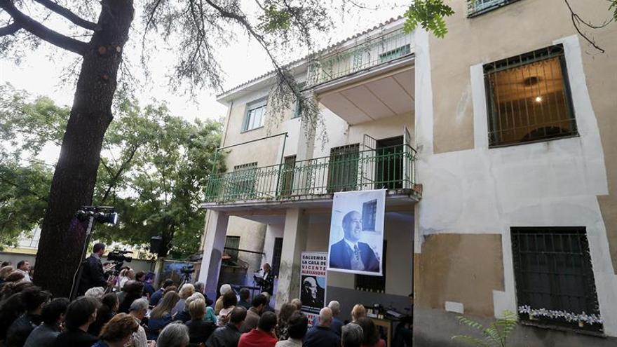 Los 40 años del Nobel se convierten en clamor por salvar casa de Aleixandre