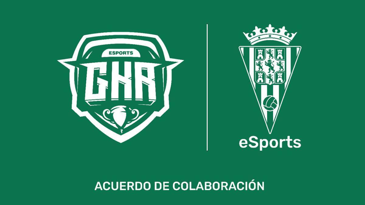 Cartel del acuerdo entre el Córdoba CF eSports y GKR