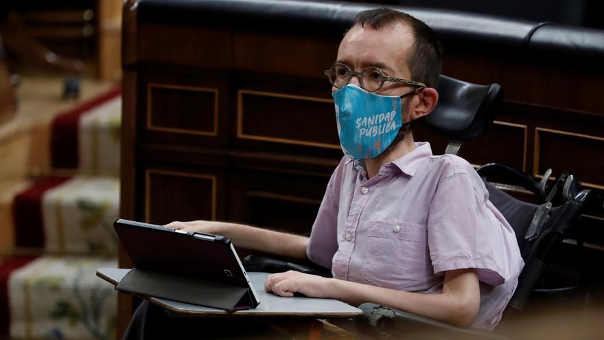 El portavoz de Unidas Podemos, Pablo Echenique.