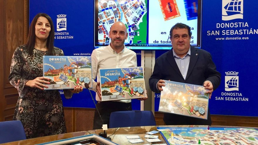 San Sebastián cuenta ya con su juego de mesa en el que los jugadores recorren las calles y comercios de la ciudad