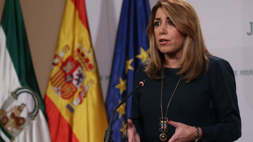 """Susana Díaz muestra el apoyo """"claro e inequívoco"""" de Andalucía a todas las medidas para restablecer la legalidad"""