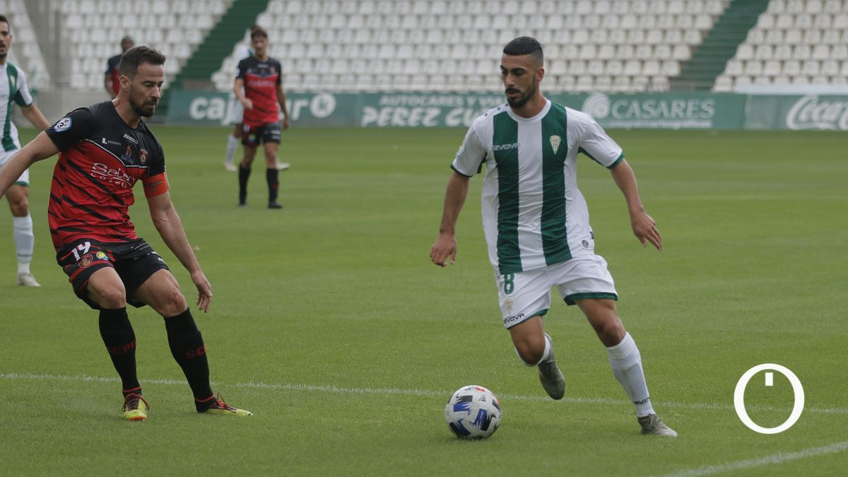 Antonio Moyano, en un partido del Córdoba B.