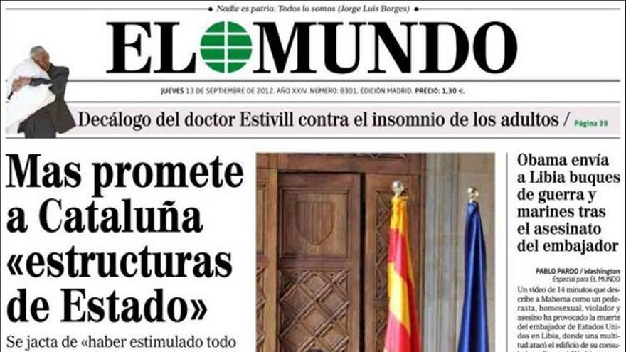 De las portadas del día (13/09/2012) #7
