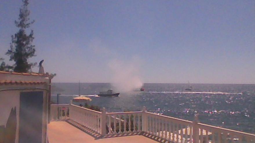 Del incendio de la embarcación #1